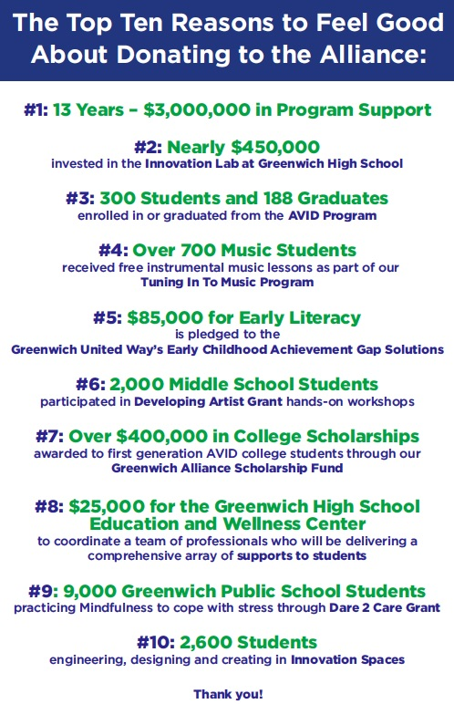 Greenwich Alliance for Education   Education Foundation for